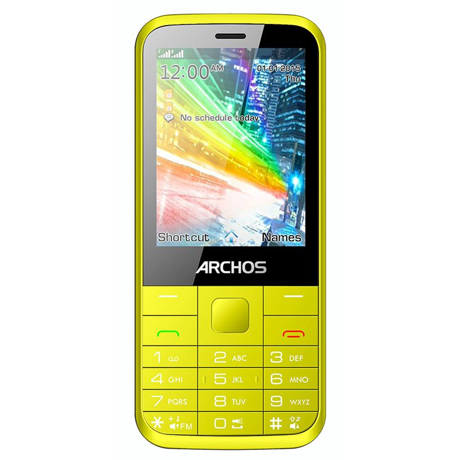archos f28 jaune mobile smartphone archos sur. Black Bedroom Furniture Sets. Home Design Ideas