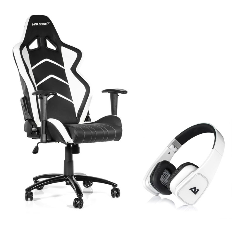 Akracing Player Gaming Chair Blanc Attitude One Almaz