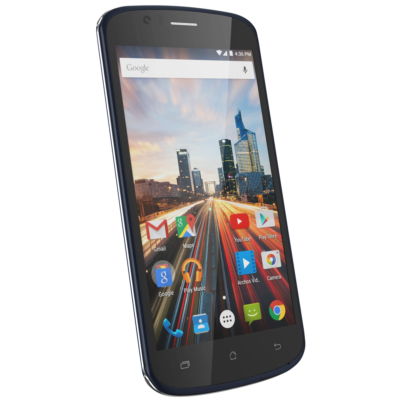 "Mobile & smartphone Archos 50e Helium Noir Smartphone 4G-LTE Dual SIM - ARM Cortex-A7 Quad-Core 1.1 GHz - RAM 1 Go - Ecran tactile 5"" 720 x 1280 - 8 Go - Bluetooth 4.0 - 2100 mAh - Android 5.1"
