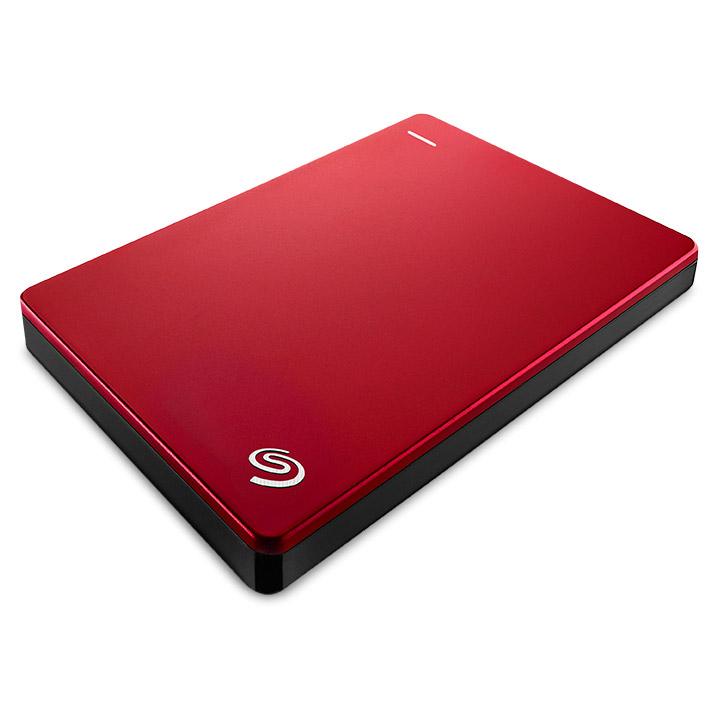 """Disque dur externe Seagate Backup Plus 1 To Rouge (USB 3.0) Disque dur portable 2.5"""" USB 3.0 avec sauvegarde automatique sur réseaux sociaux"""