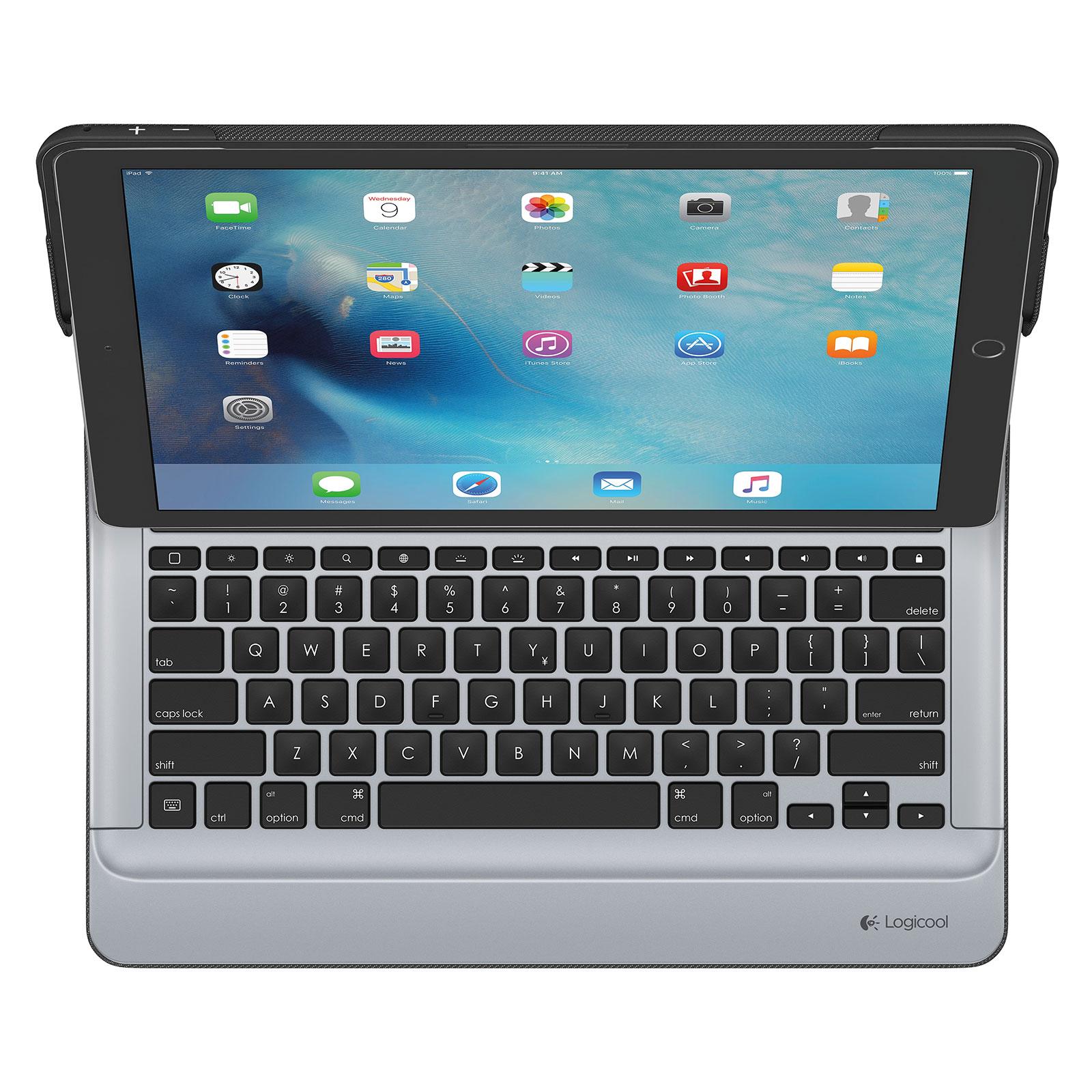 logitech create keyboard case noir ipad pro 12 9 1 re g n ration etui tablette logitech sur. Black Bedroom Furniture Sets. Home Design Ideas