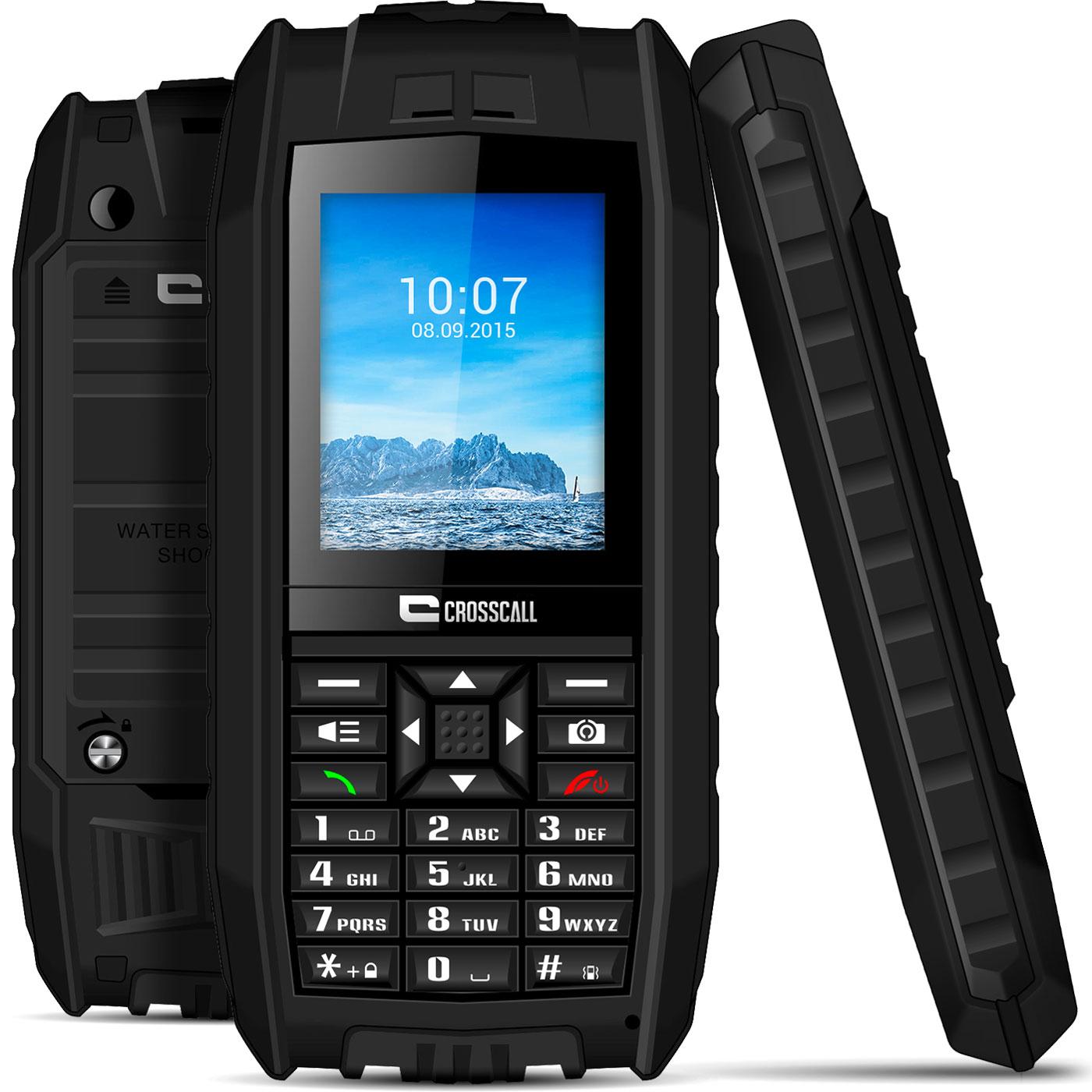 "Mobile & smartphone Crosscall Shark V2 Noir Téléphone 2G Dual SIM IP68 - Ecran 2.2"" - Bluetooth - 650 mAh"