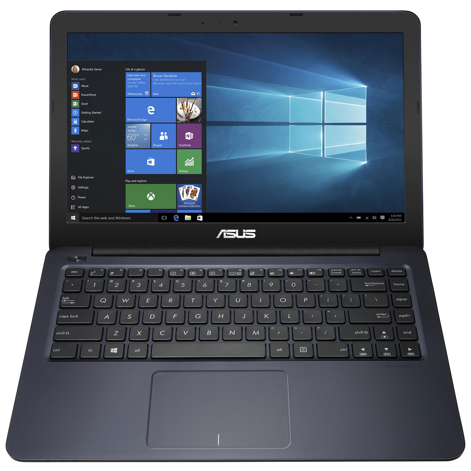 asus eeebook e402sa wx027t bleu pc portable asus sur. Black Bedroom Furniture Sets. Home Design Ideas