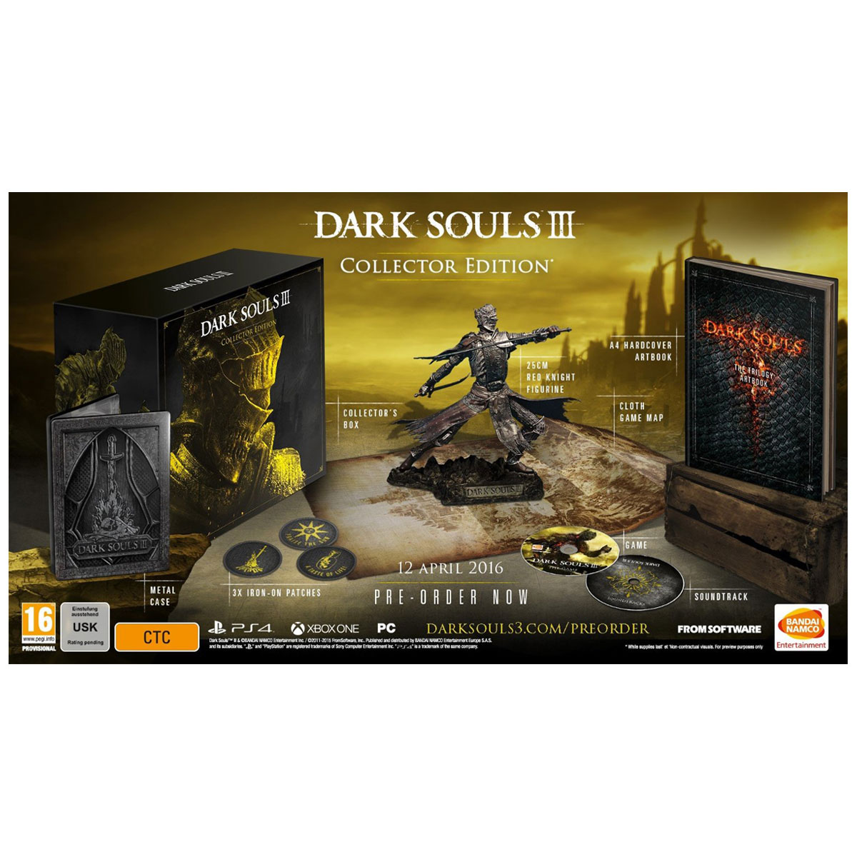 dark souls iii collector dition ps4 jeux ps4 bandai namco games sur. Black Bedroom Furniture Sets. Home Design Ideas