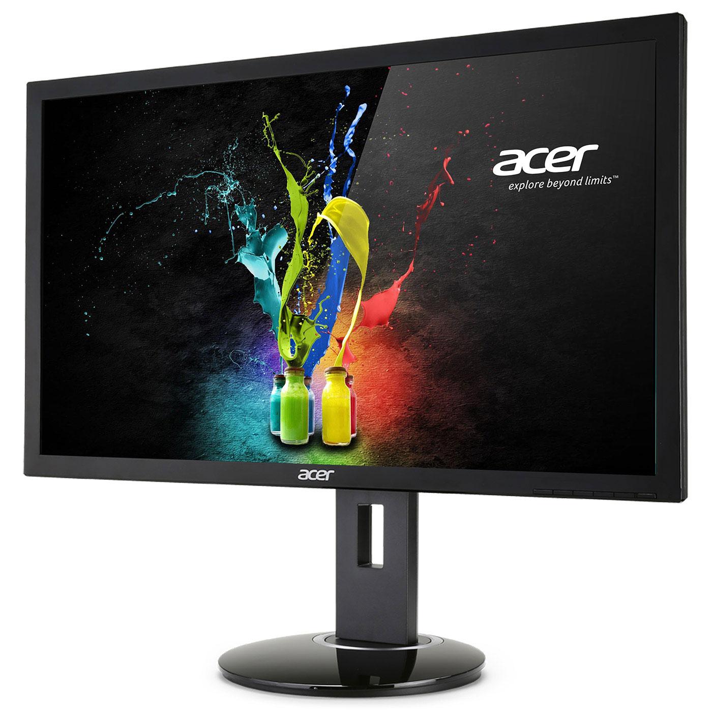 """Ecran PC Acer 28"""" LED - CB280HKbmjdppr 3840 x 2160 pixels - 1 ms - Format 16/9 - Pivot - DisplayPort - HDMI - Noir (Garantie constructeur 3 ans)"""