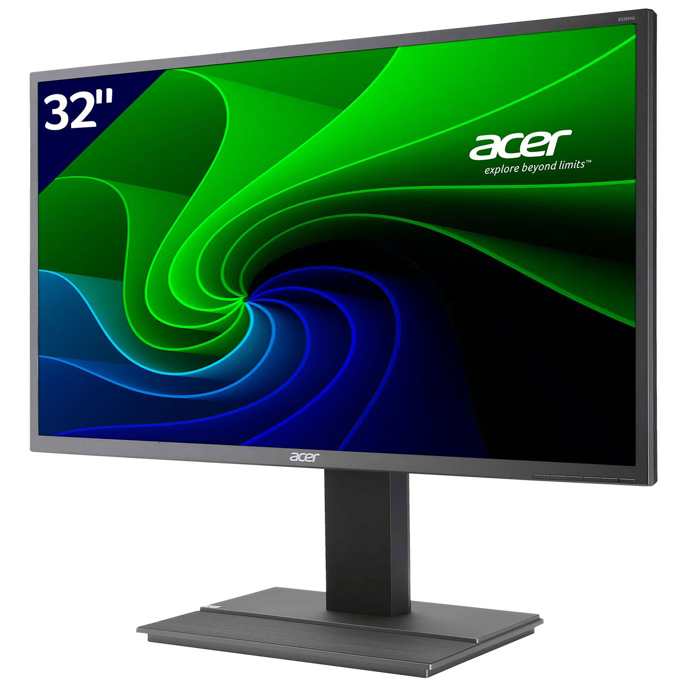 Acer 32 led b326hkymjdpphz ecran pc acer sur for Moniteur 27 pouces dalle ips