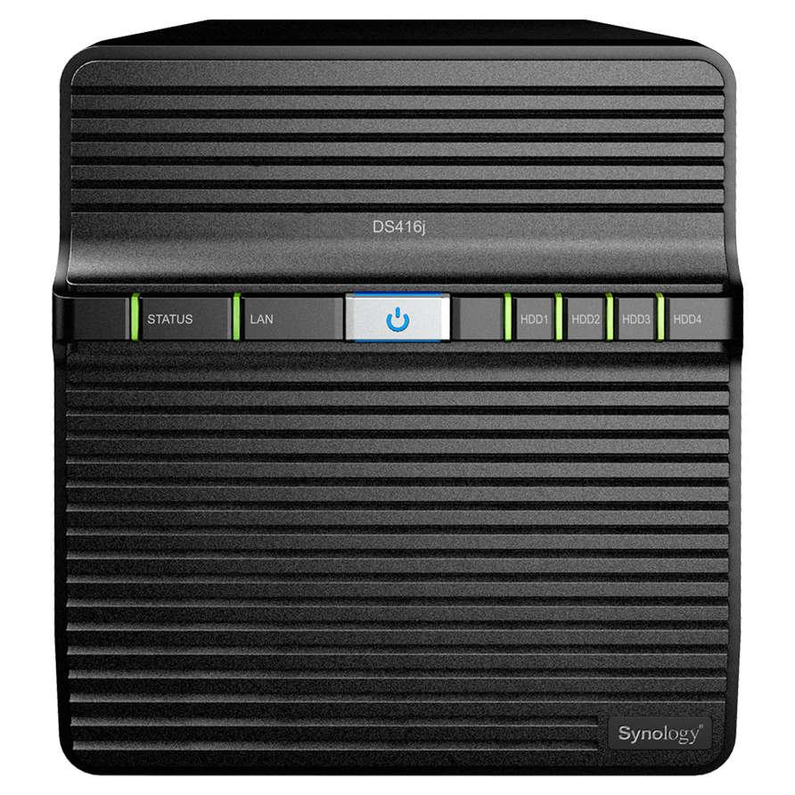 Serveur NAS Synology DiskStation DS416j Barebone Serveur NAS 4 baies