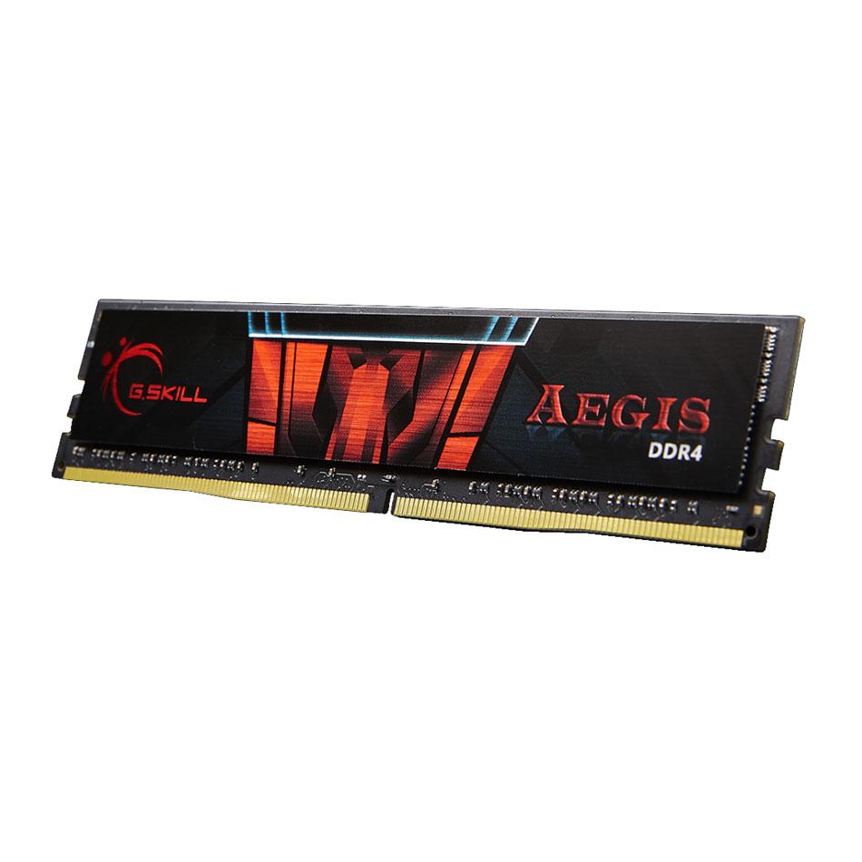 Mémoire PC G.Skill Aegis 8 Go (1 x 8 Go) DDR4 2400 MHz CL15 RAM DDR4 PC4-19200 - F4-2400C15S-8GNS (garantie à vie par G.Skill)