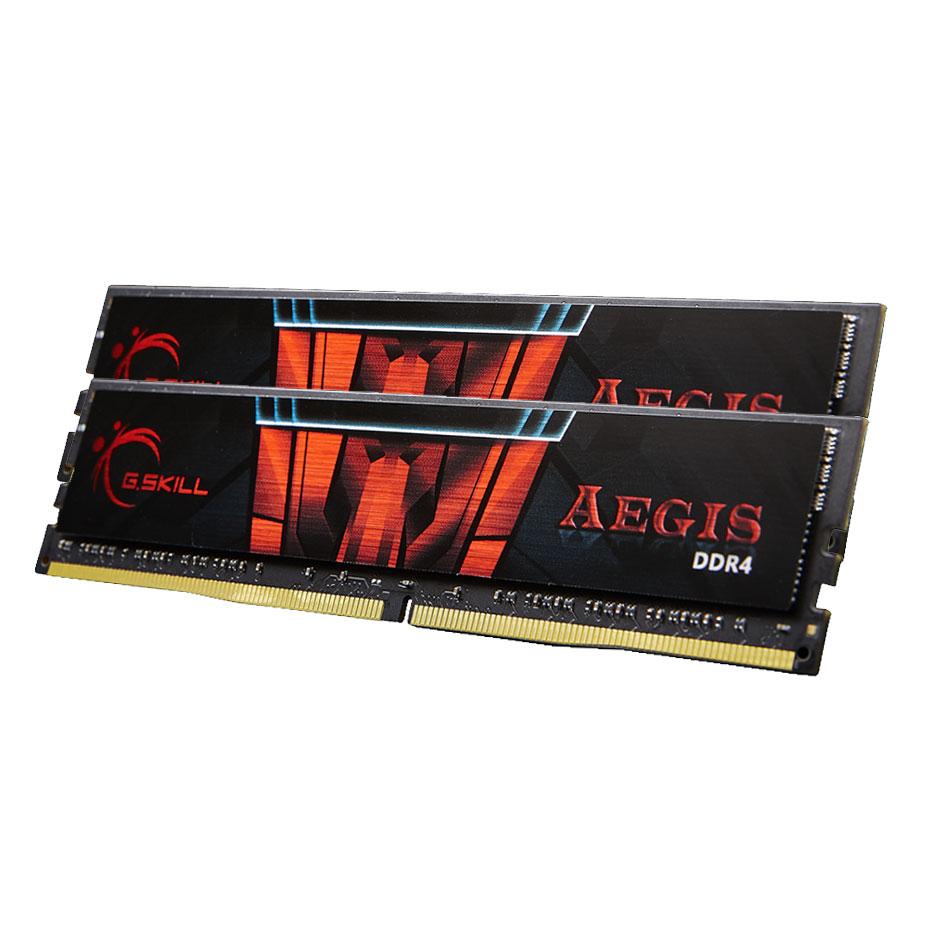 Mémoire PC G.Skill Aegis 16 Go (2 x 8 Go) DDR4 2400 MHz CL17 Kit Dual Channel 2 barrettes de RAM DDR4 PC4-19200 - F4-2400C17D-16GIS