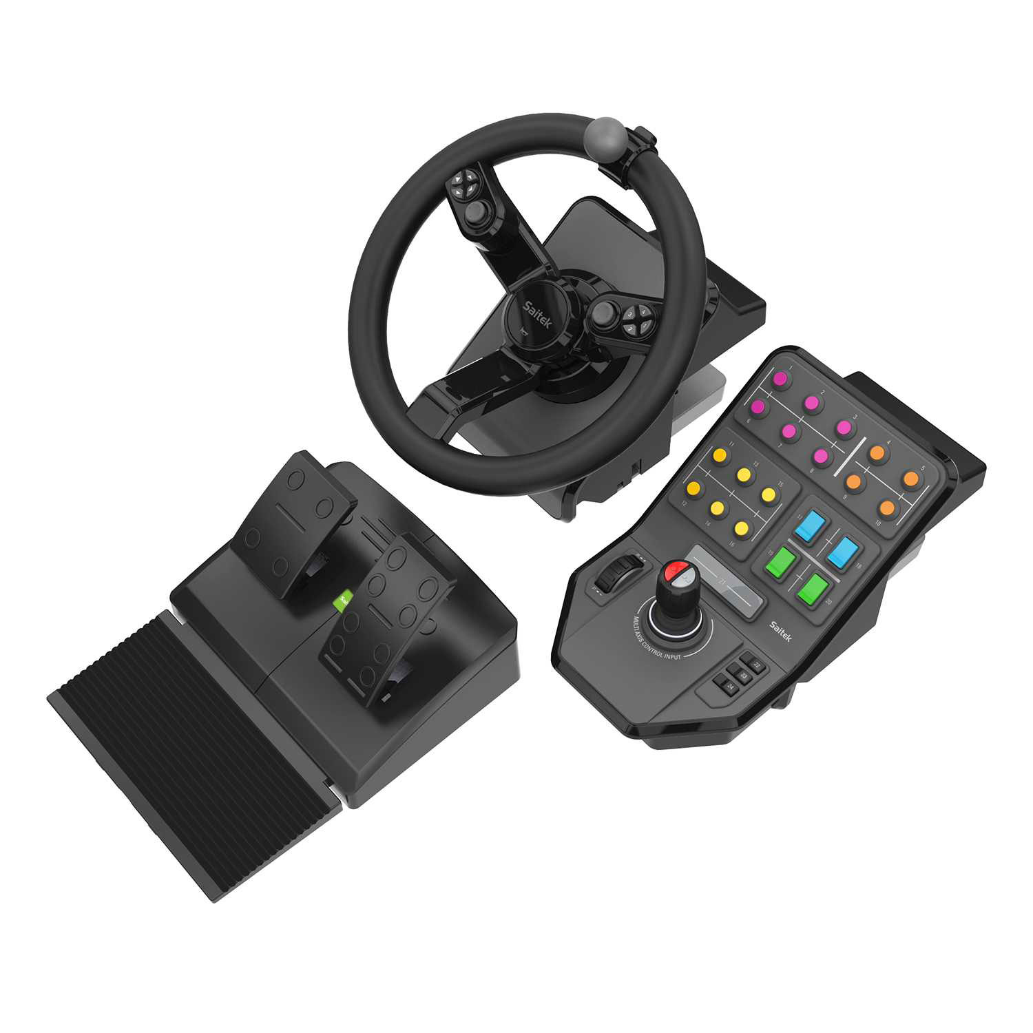 logitech g saitek farming simulator controller volant pc logitech sur. Black Bedroom Furniture Sets. Home Design Ideas