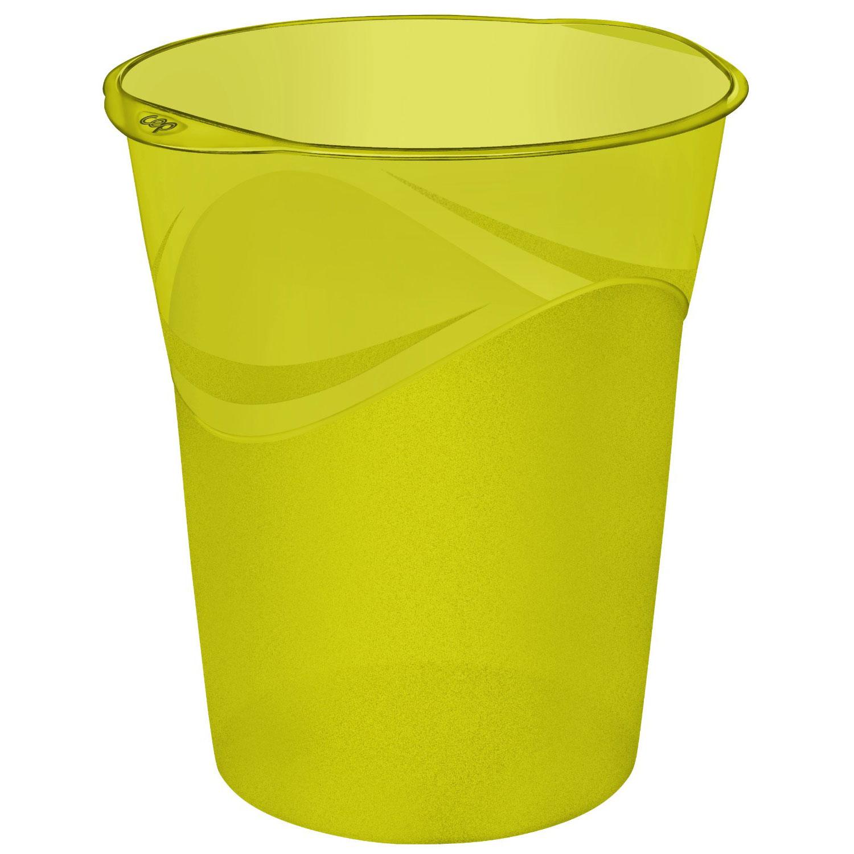 cep happy corbeille papier verte 14 litres poubelle et. Black Bedroom Furniture Sets. Home Design Ideas