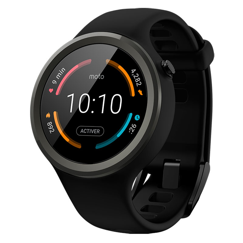 motorola moto 360 sport 2 me g n ration montre connect e. Black Bedroom Furniture Sets. Home Design Ideas