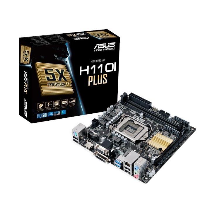 Carte mère ASUS H110I-PLUS Carte mère Mini-ITX Socket 1151 Intel H110 Express - SATA 6Gb/s - DDR4 - USB 3.0 - 1x PCI-Express 3.0 16x