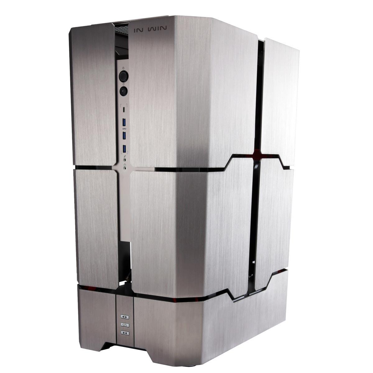 Boîtier PC IN WIN H-Tower - Titanium Boîtier Grand Tour lumineux à ouverture automatisée