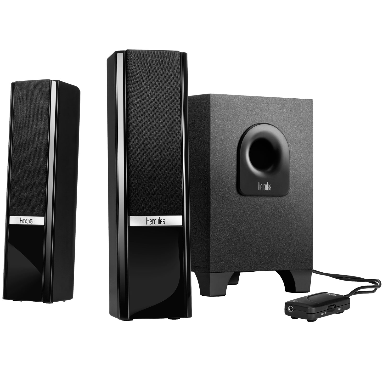 hercules 2 1 gloss enceinte pc hercules sur. Black Bedroom Furniture Sets. Home Design Ideas