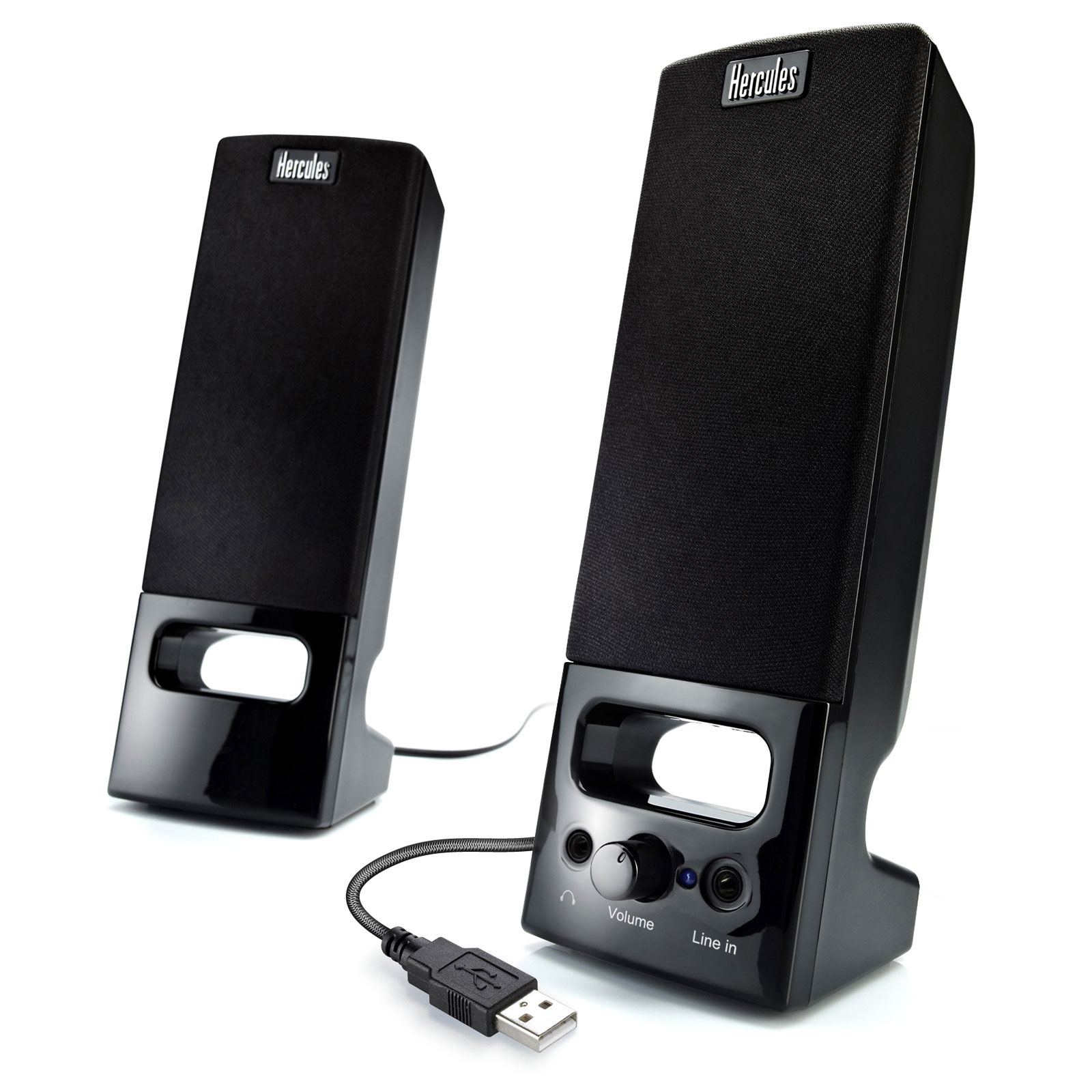 hercules xps 2 0 35 usb enceinte pc hercules sur. Black Bedroom Furniture Sets. Home Design Ideas
