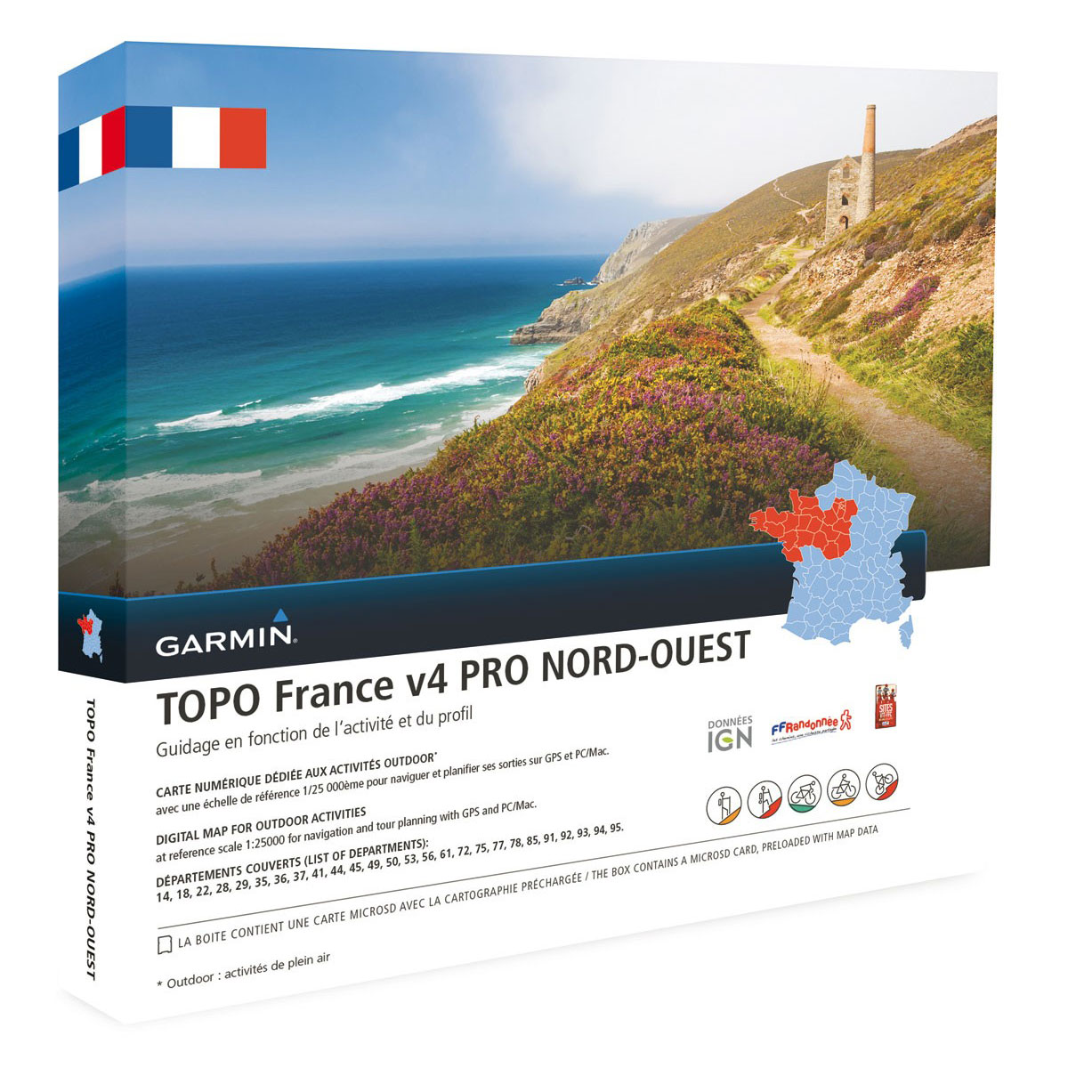 garmin topo france v4 pro nord ouest accessoires gps. Black Bedroom Furniture Sets. Home Design Ideas