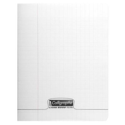 Cahier Calligraphe 8000 Polypro Cahier 96 pages 17 x 22 cm seyes grands carreaux Incolore Cahier 96 pages 90g A5+ en reliure piquée