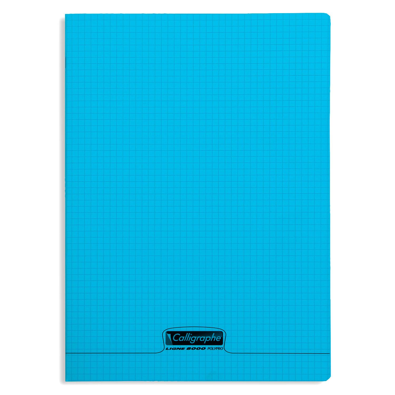 Calligraphe 8000 Polypro Cahier 96 Pages 21 X 297 Cm Petits Carreaux Bleu