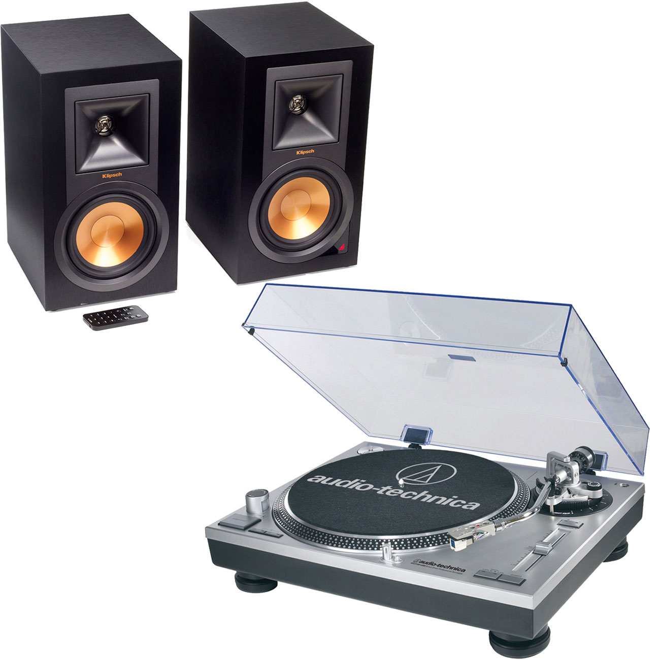 audio technica at lp120usbhc klipsch r 15pm platine vinyle audio technica sur. Black Bedroom Furniture Sets. Home Design Ideas