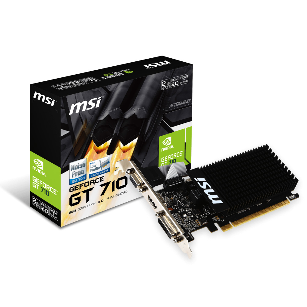 Carte graphique MSI GeForce GT 710 2GD3H LP 2 Go HDMI/DVI - PCI Express (NVIDIA GeForce avec CUDA GT 710)