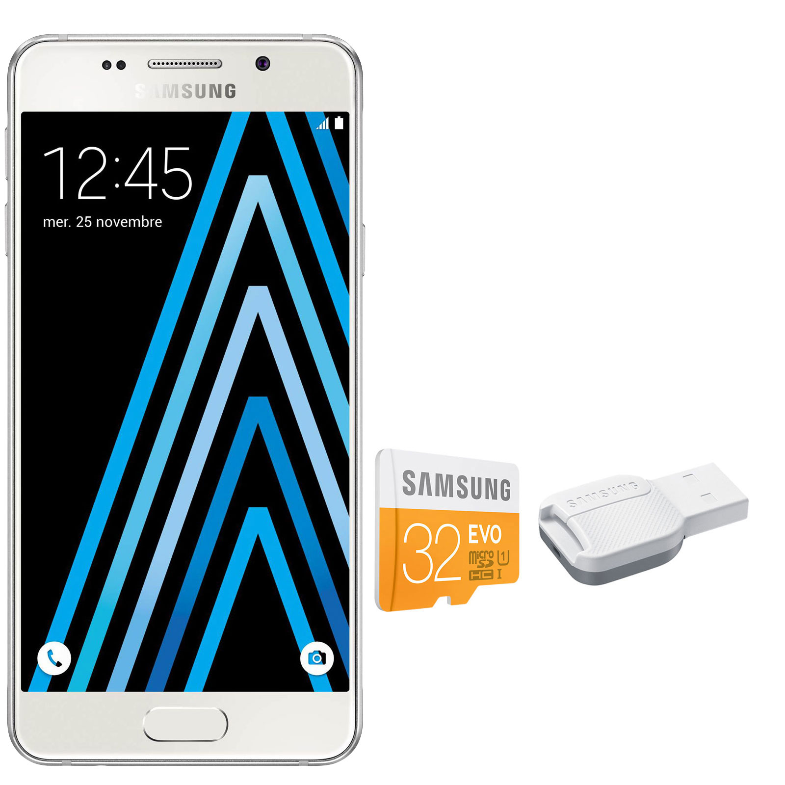 samsung galaxy a3 2016 blanc microsdhc 32 go mobile smartphone samsung sur. Black Bedroom Furniture Sets. Home Design Ideas