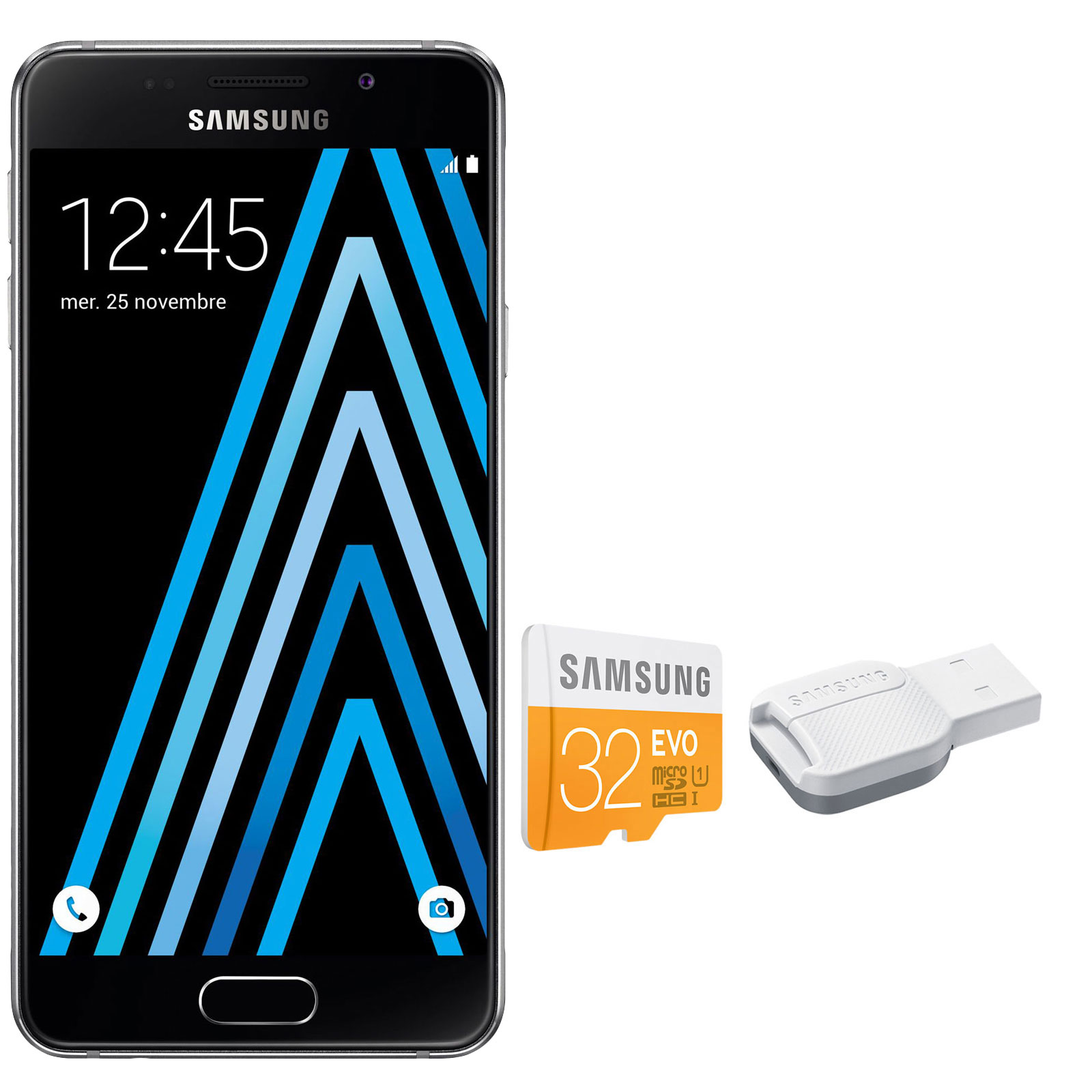 samsung galaxy a3 2016 noir microsdhc 32 go mobile smartphone samsung sur. Black Bedroom Furniture Sets. Home Design Ideas