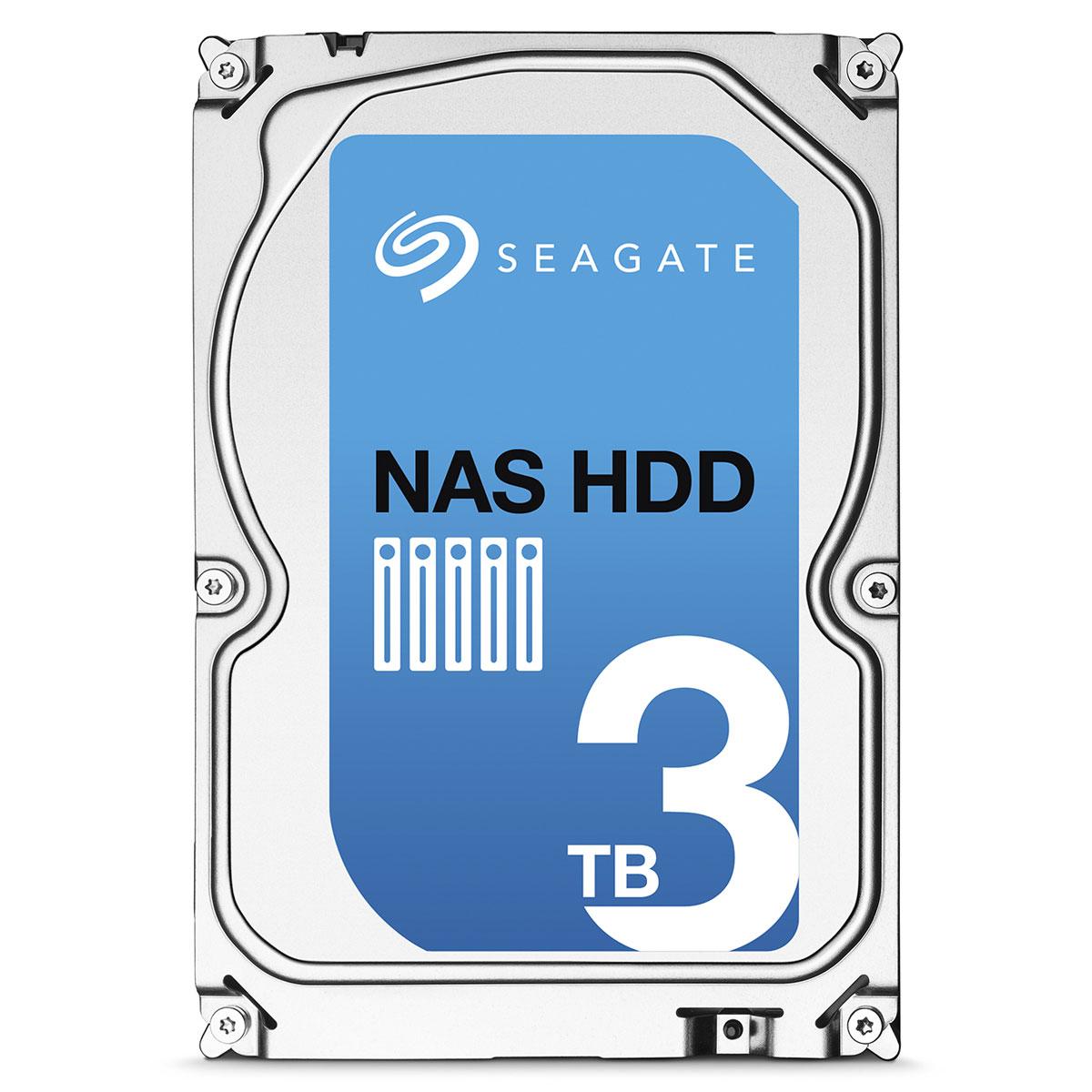 """Disque dur interne Seagate NAS HDD 3 To Disque dur 3.5"""" 3 To 5900 RPM 64 Mo Serial ATA 6 Gb/s (bulk)"""