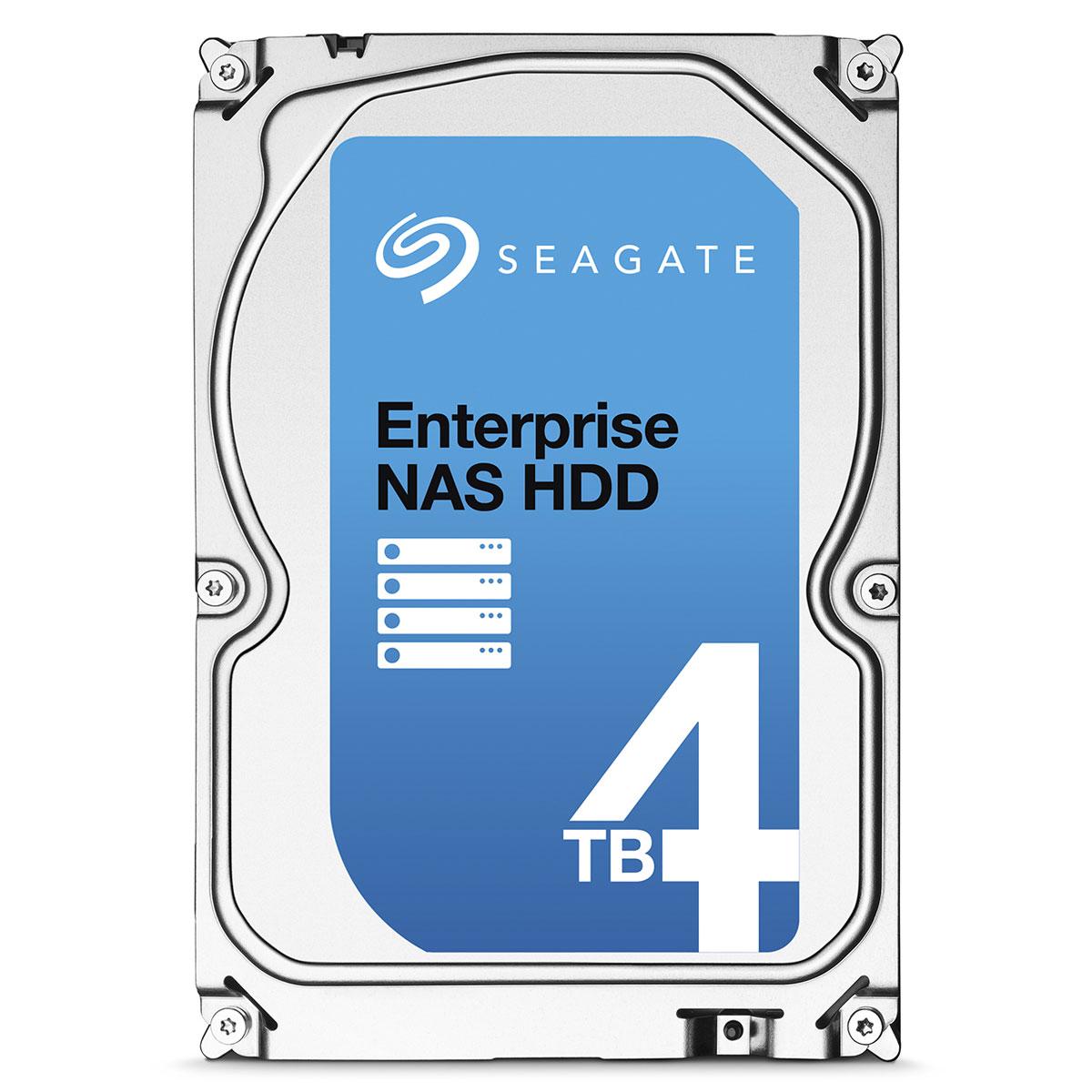 """Disque dur interne Seagate Enterprise NAS HDD 4 To Disque dur 3.5"""" 4 To 7200 RPM 128 Mo Serial ATA 6 Gb/s pour NAS"""