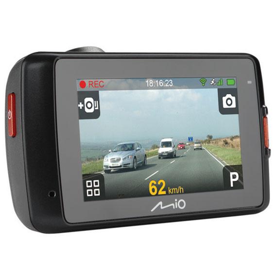 """Sécurité auto Mio MiVue 658 WiFi Boite noire vidéo pour automobile avec puce GPS intégrée, Wi-Fi, caméra avant Extrême HD, écran de contrôle 2.7"""""""