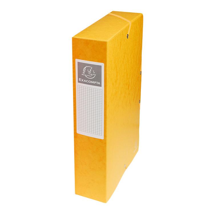 exacompta boites de classement exabox dos 60 mm jaune x 8. Black Bedroom Furniture Sets. Home Design Ideas