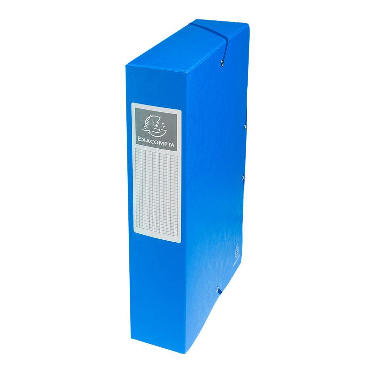 exacompta boites de classement exabox dos 60 mm bleu x 8. Black Bedroom Furniture Sets. Home Design Ideas