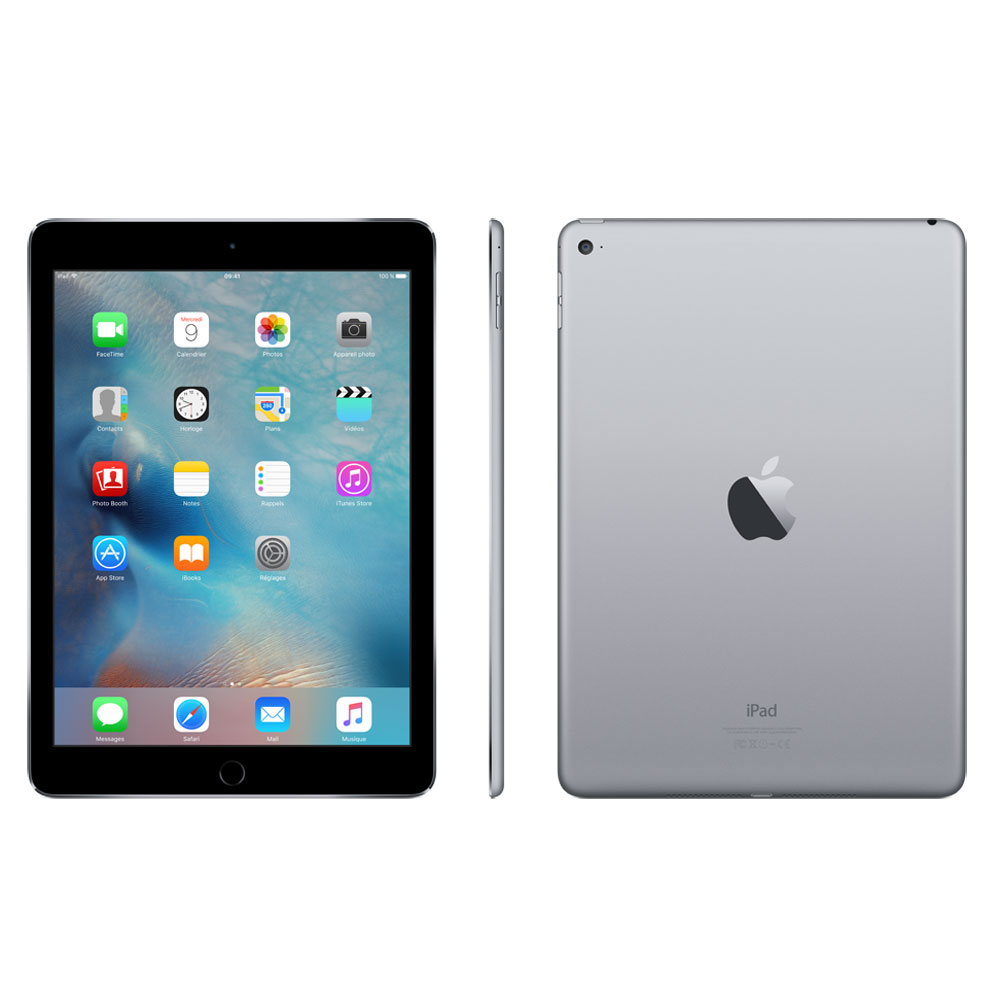 apple ipad air 2 128 go wi fi gris sid ral tablette. Black Bedroom Furniture Sets. Home Design Ideas
