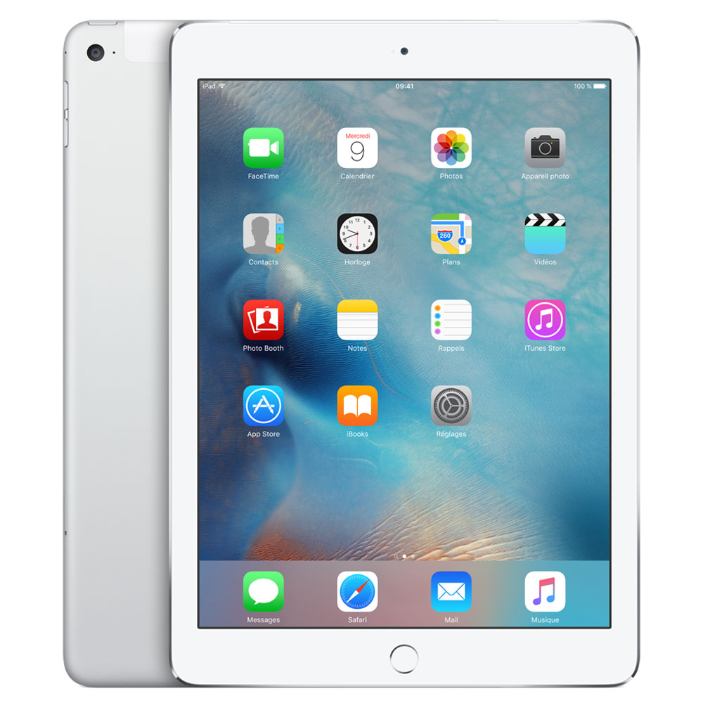 apple ipad air 2 64 go wi fi cellular argent tablette tactile apple sur. Black Bedroom Furniture Sets. Home Design Ideas