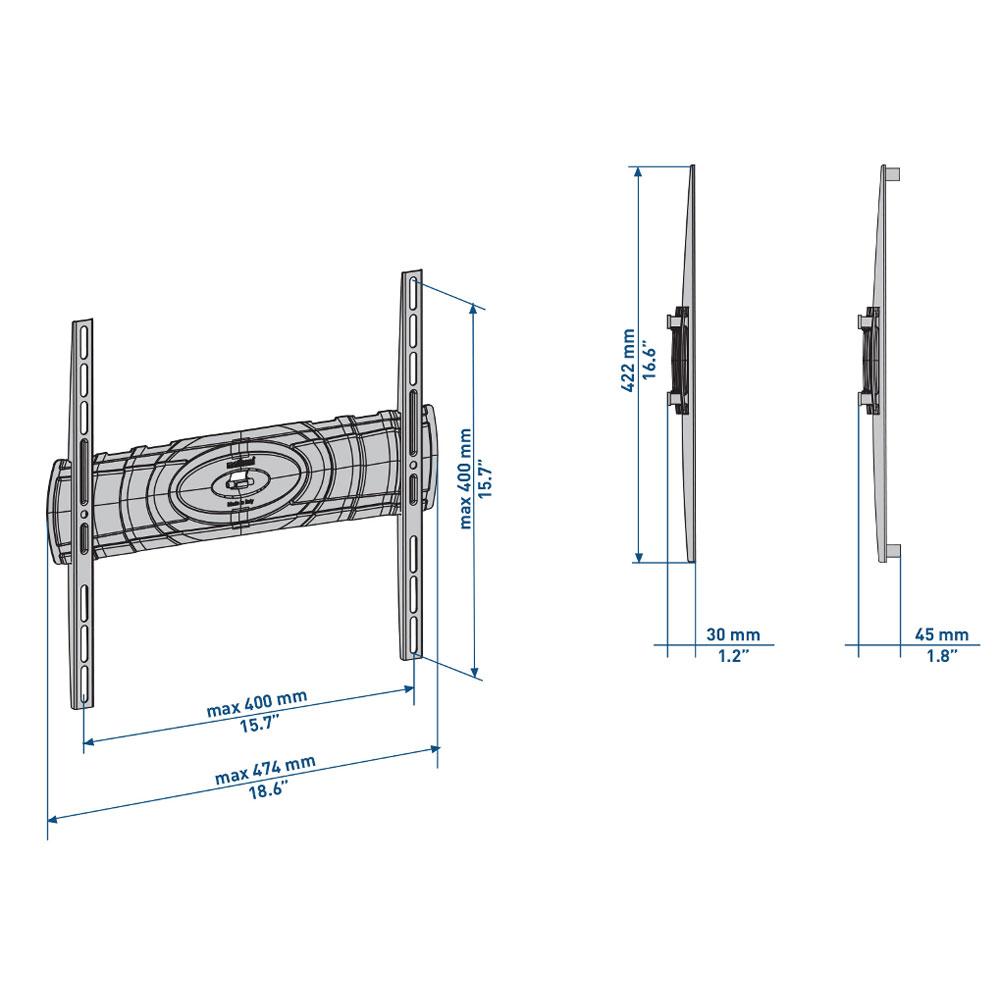 meliconi curved 400dr support mural tv meliconi sur. Black Bedroom Furniture Sets. Home Design Ideas
