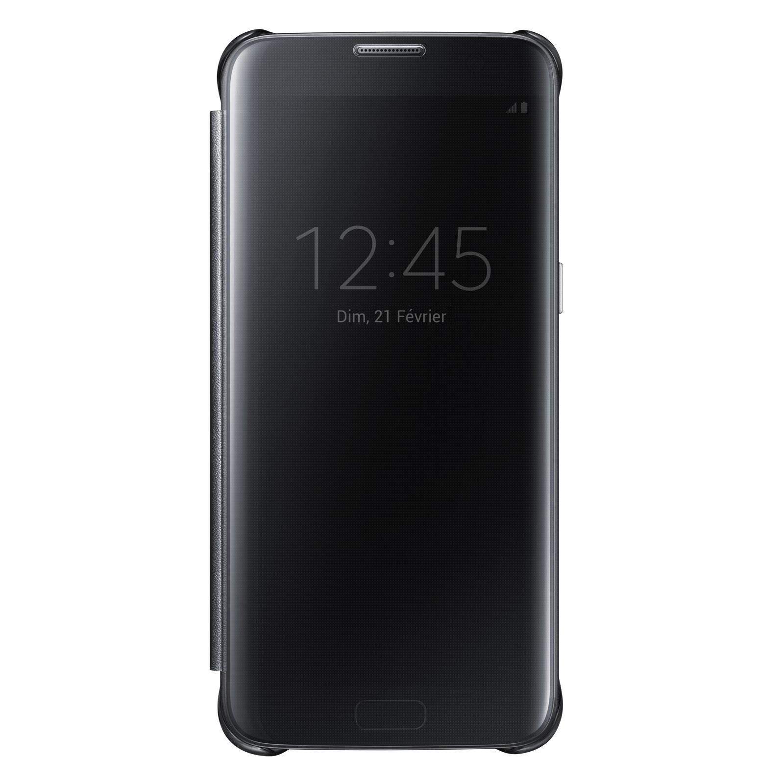 Etui téléphone Samsung Clear View Cover Noir Samsung Galaxy S7 Edge Etui à  rabat avec affichage 601aae17a643