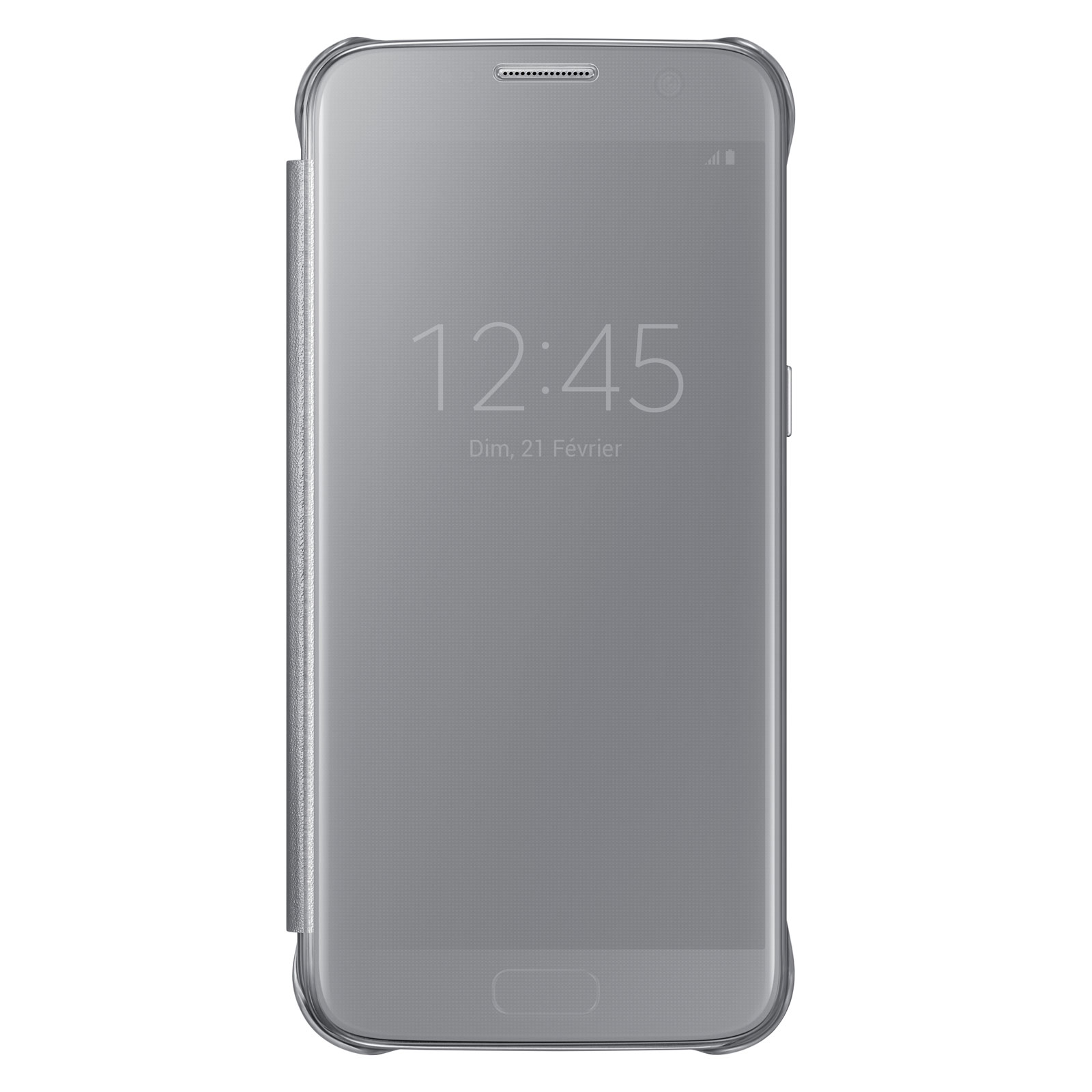 samsung clear view cover argent samsung galaxy s7 etui t l phone samsung sur. Black Bedroom Furniture Sets. Home Design Ideas