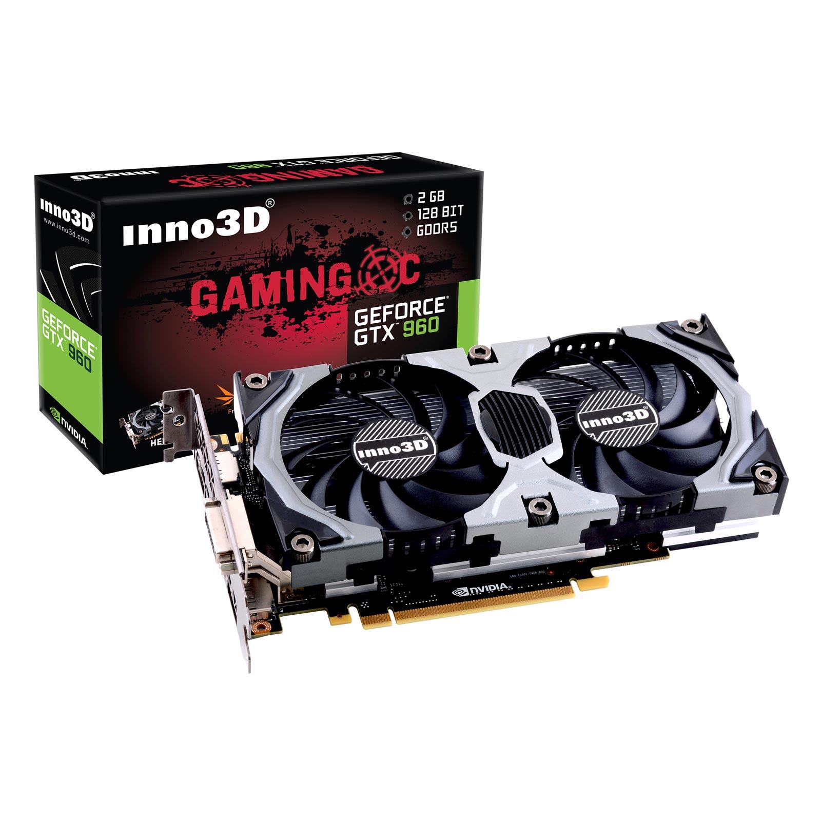 Carte graphique Inno3D GeForce GTX960 2GB OC 2048 Mo DVI/HDMI/Tri-DisplayPort - PCI Express (NVIDIA GeForce avec CUDA GTX 960)