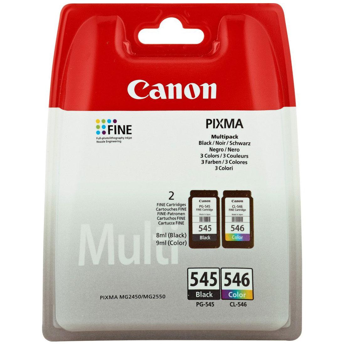 canon pg 545 cl 546 multipack couleur et noir cartouche imprimante canon sur. Black Bedroom Furniture Sets. Home Design Ideas