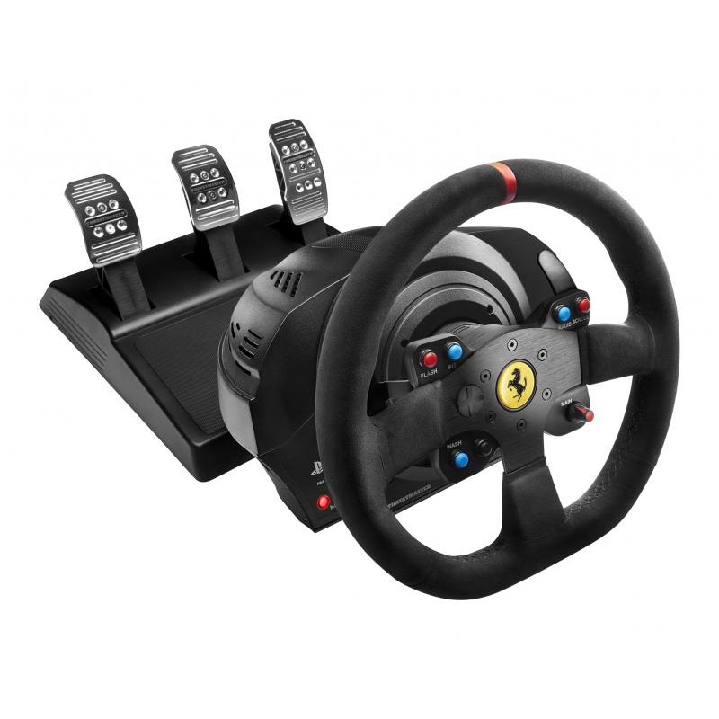 thrustmaster t300 ferrari alcantara edition volant pc thrustmaster sur. Black Bedroom Furniture Sets. Home Design Ideas