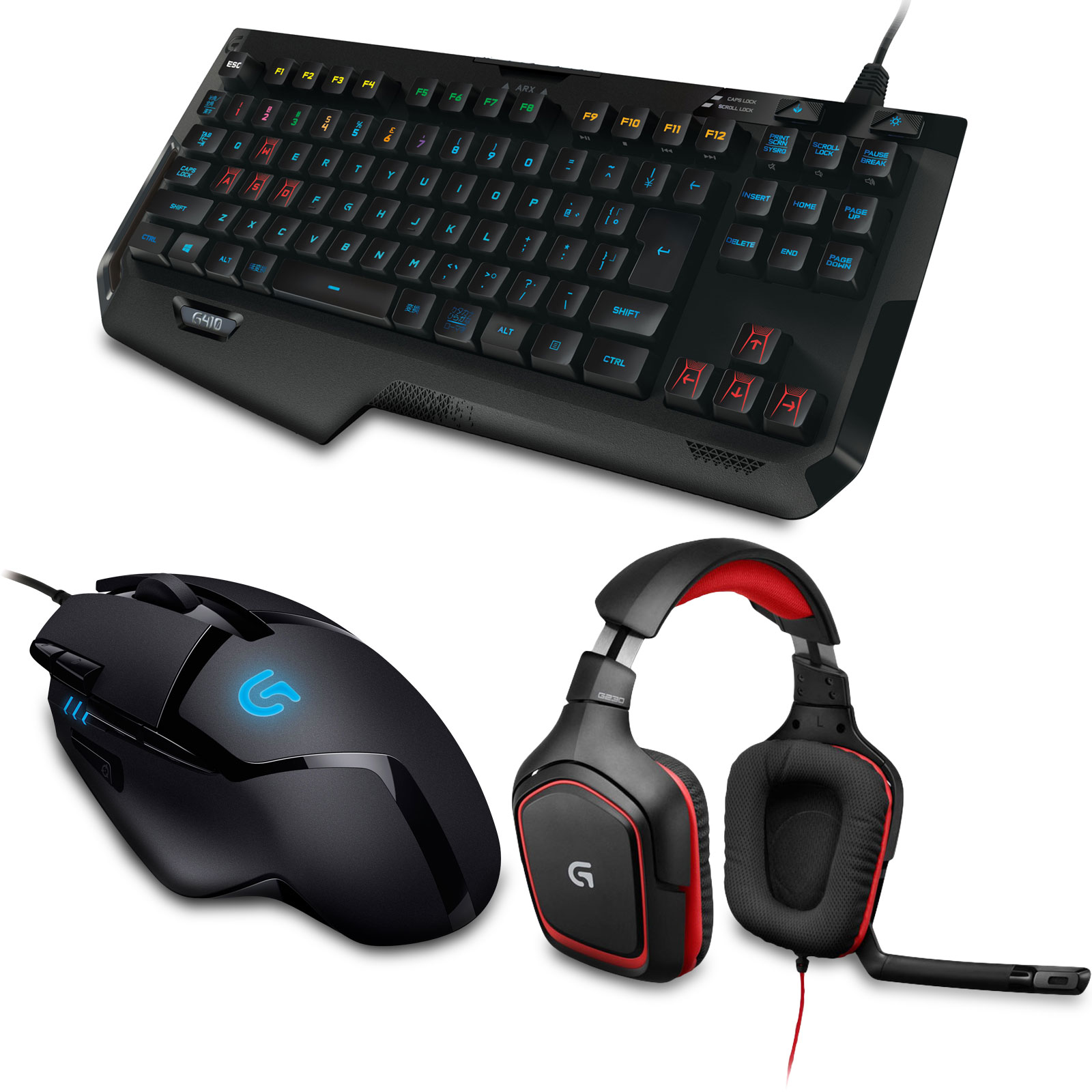 logitech g410 g402 g230 pack clavier souris logitech. Black Bedroom Furniture Sets. Home Design Ideas