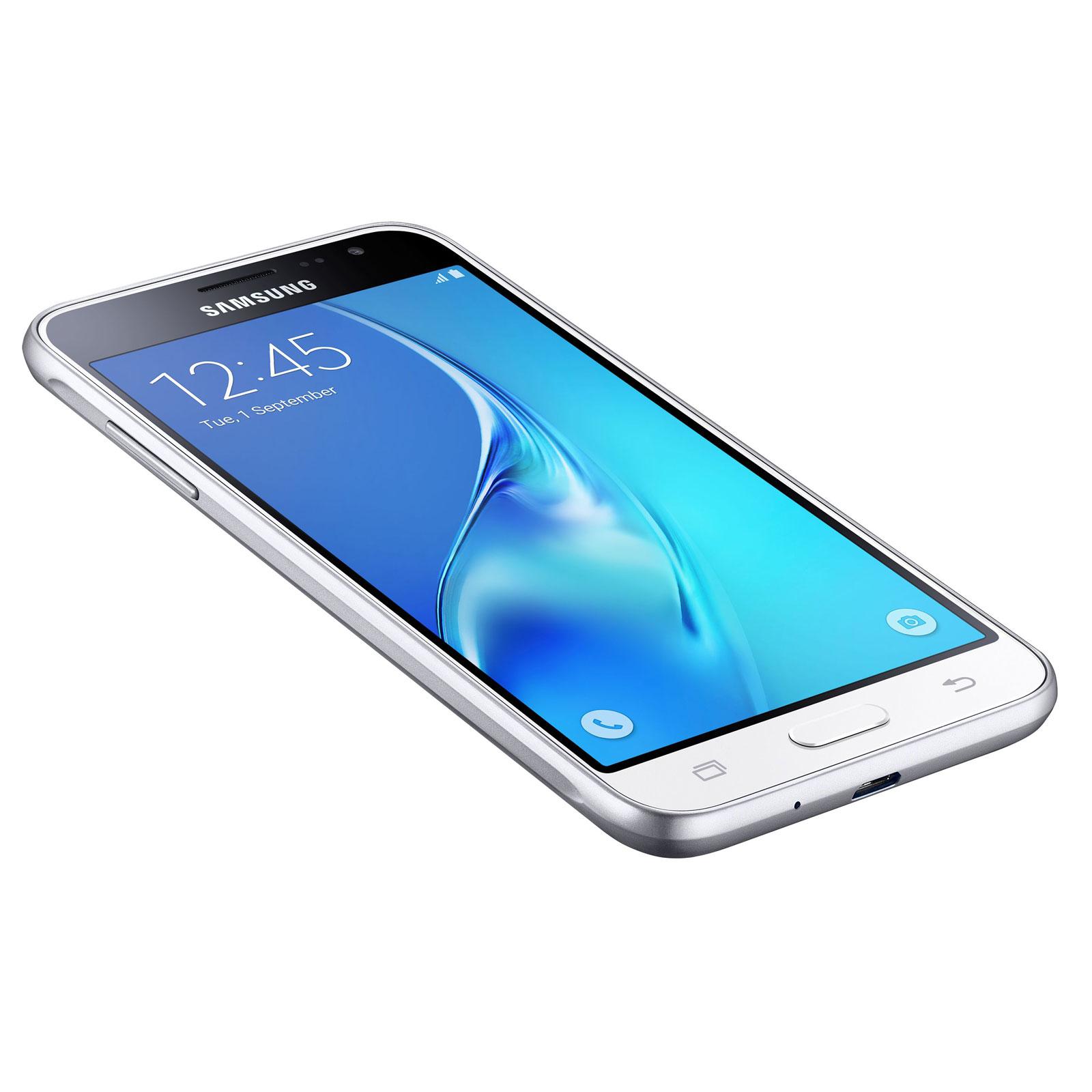 Samsung galaxy j3 2016 blanc mobile smartphone samsung for Photo ecran galaxy j3