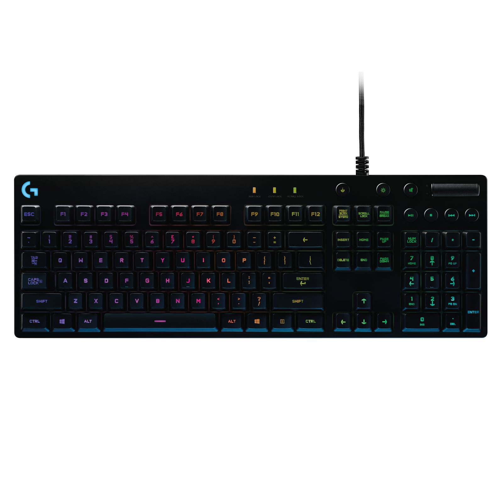 logitech g810 orion spectrum rgb clavier pc logitech sur. Black Bedroom Furniture Sets. Home Design Ideas