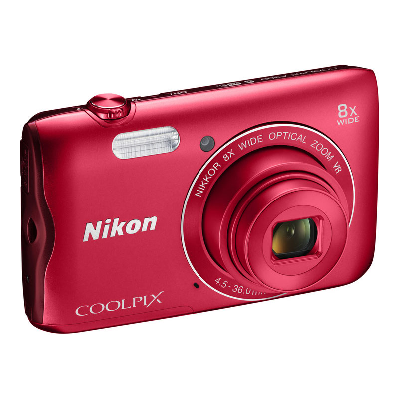 nikon coolpix a300 rouge appareil photo num rique nikon. Black Bedroom Furniture Sets. Home Design Ideas