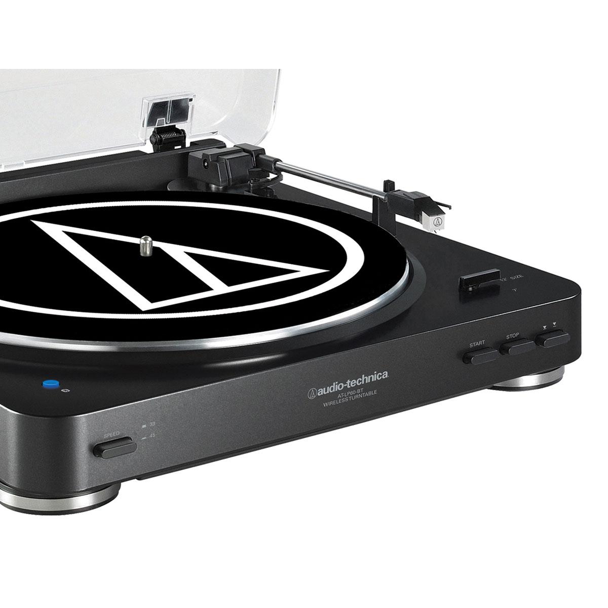 audio-technica at-lp60bt noir - platine vinyle audio-technica sur