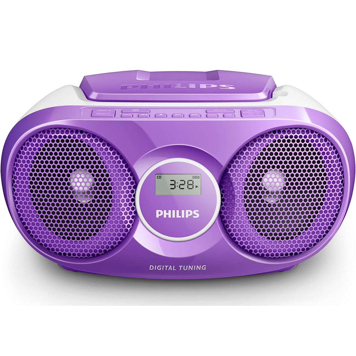 philips az215 violet radio radio r veil philips sur. Black Bedroom Furniture Sets. Home Design Ideas