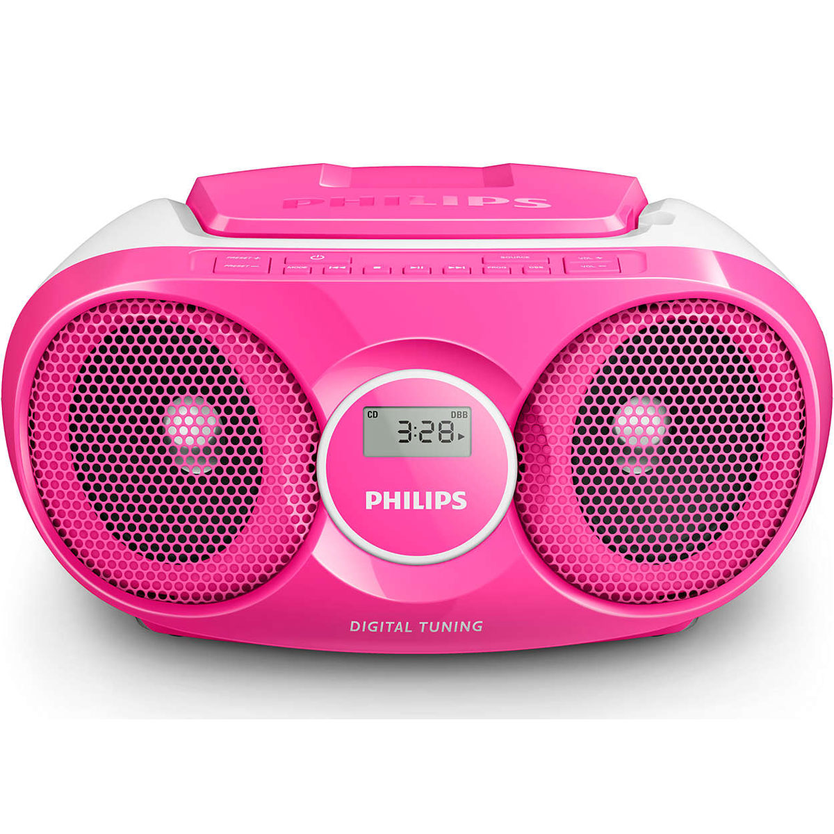 philips az215 rose radio radio r veil philips sur. Black Bedroom Furniture Sets. Home Design Ideas