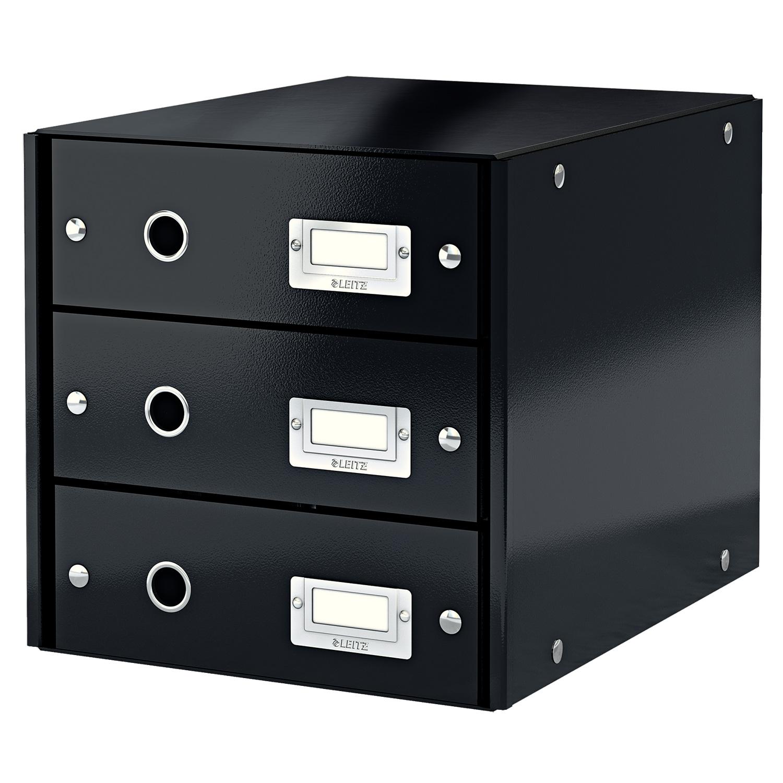 leitz bloc de classement tiroirs leitz click store noir module de classement leitz sur. Black Bedroom Furniture Sets. Home Design Ideas