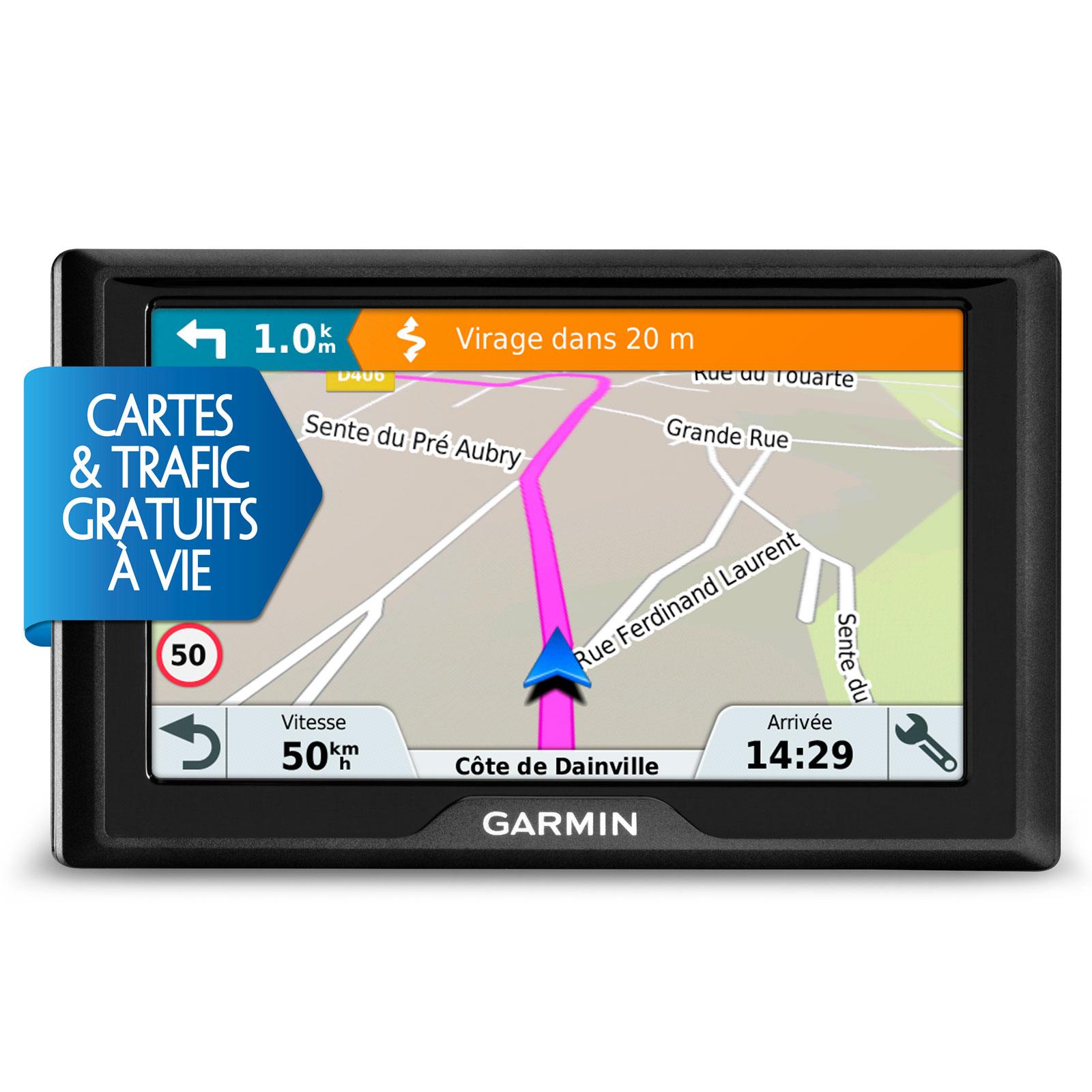 "GPS Garmin Drive 50LMT GPS 22 pays d'Europe Ecran 5"""
