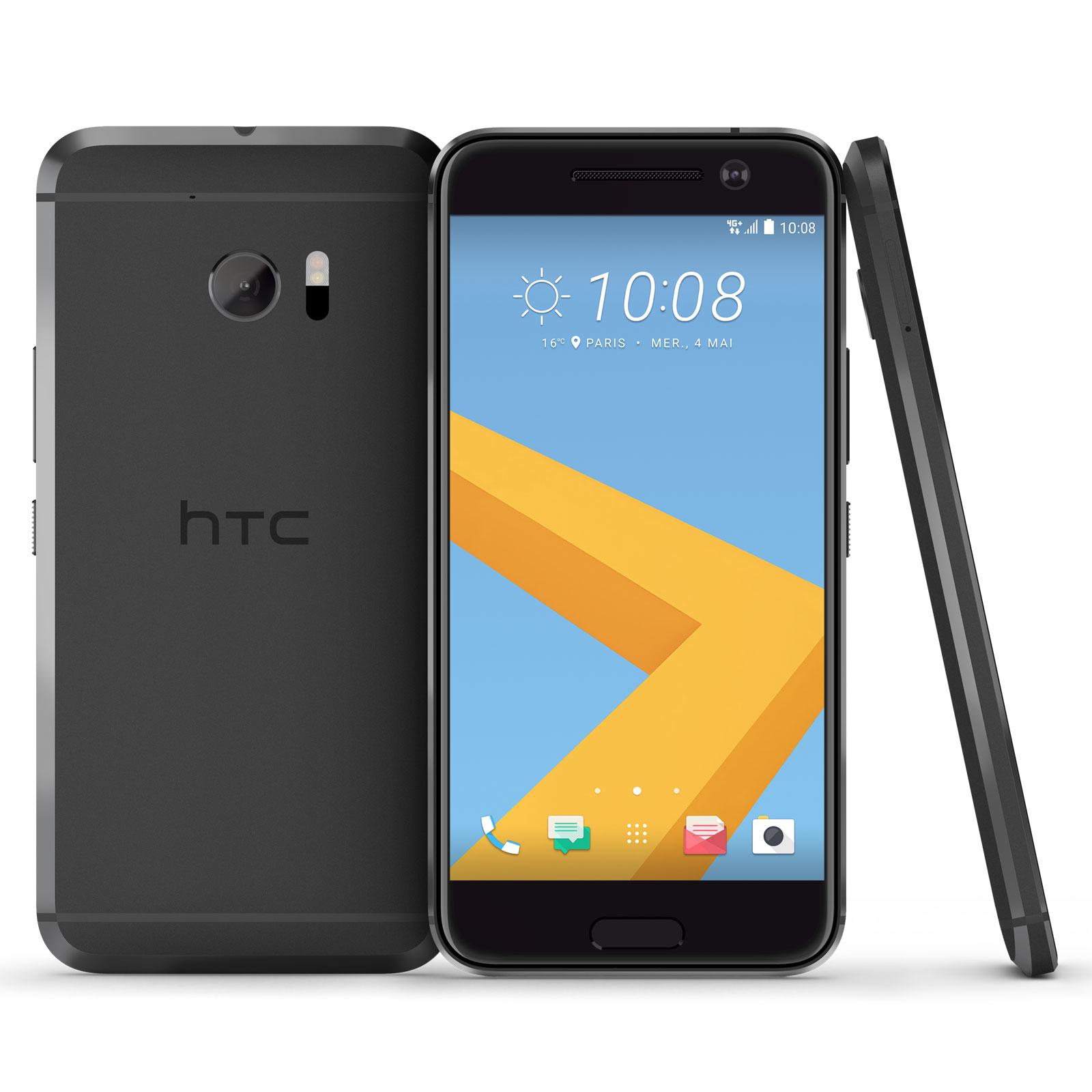 "Mobile & smartphone HTC 10 Carbone Smartphone 4G-LTE Advanced - Snapdragon 820 Quad-Core 2.2 Ghz - RAM 4 Go - Ecran tactile 5.2"" 1440 x 2560 - 32 Go - NFC/Bluetooth 4.2 - 3000 mAh - Android 6.0"